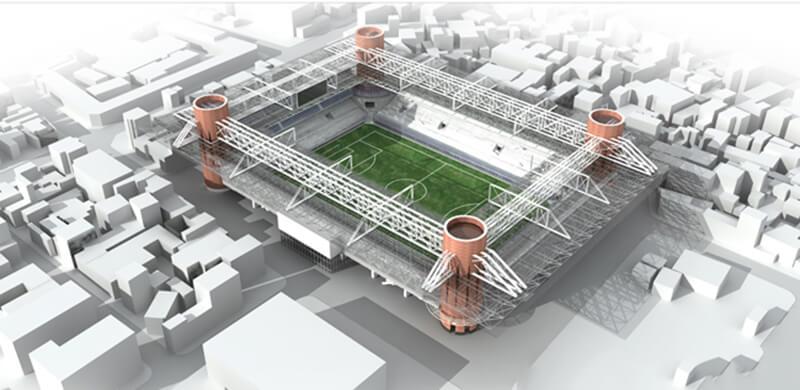 Quá trình xây dựng Sân Hàng Đẫy